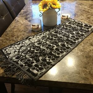 Coach signature wool/cashmere scarf